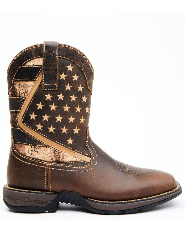 Cody James Men's Lite Star Western Boots - Wide Square Toe, Brown, hi-res