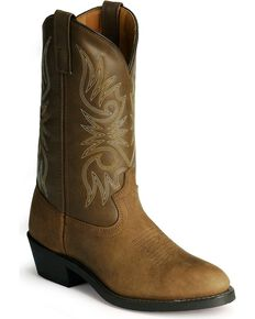 Laredo Men's Cowboy Work Boots - Medium Toe, Distressed, hi-res