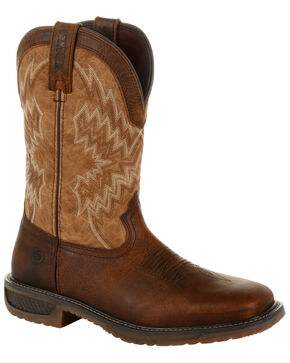 Durango Men's WorkHorse Western Work Boots - Square Toe, Brown, hi-res