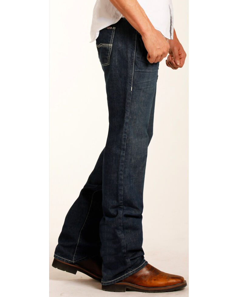 Rock & Roll Cowboy Men's Pistol Flame Resistant Jeans - Straight Leg, Blue, hi-res