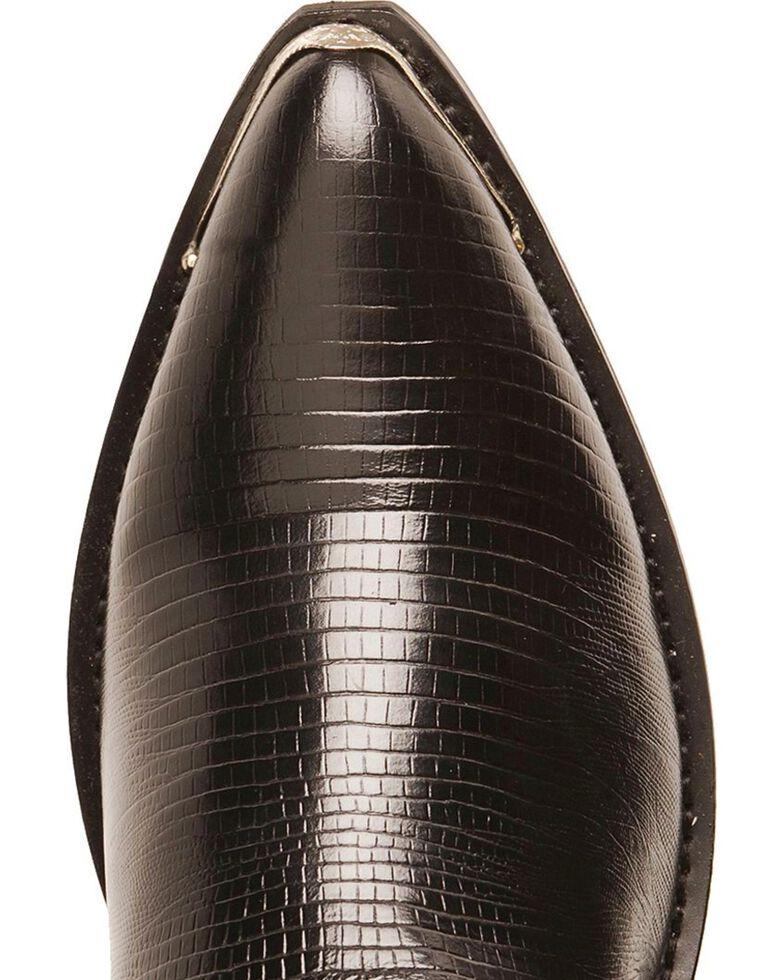 Laredo Men's Lizard Print Cowboy Boots - Pointed Toe, Black, hi-res