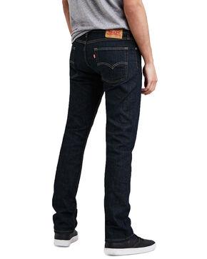 Levis Men's 513 Dark Stretch Slim Straight Jeans , Blue, hi-res