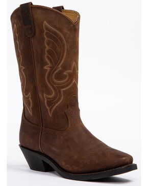 "Shyanne Women's 11"" Brown Western Boots - Square Toe, Brown, hi-res"