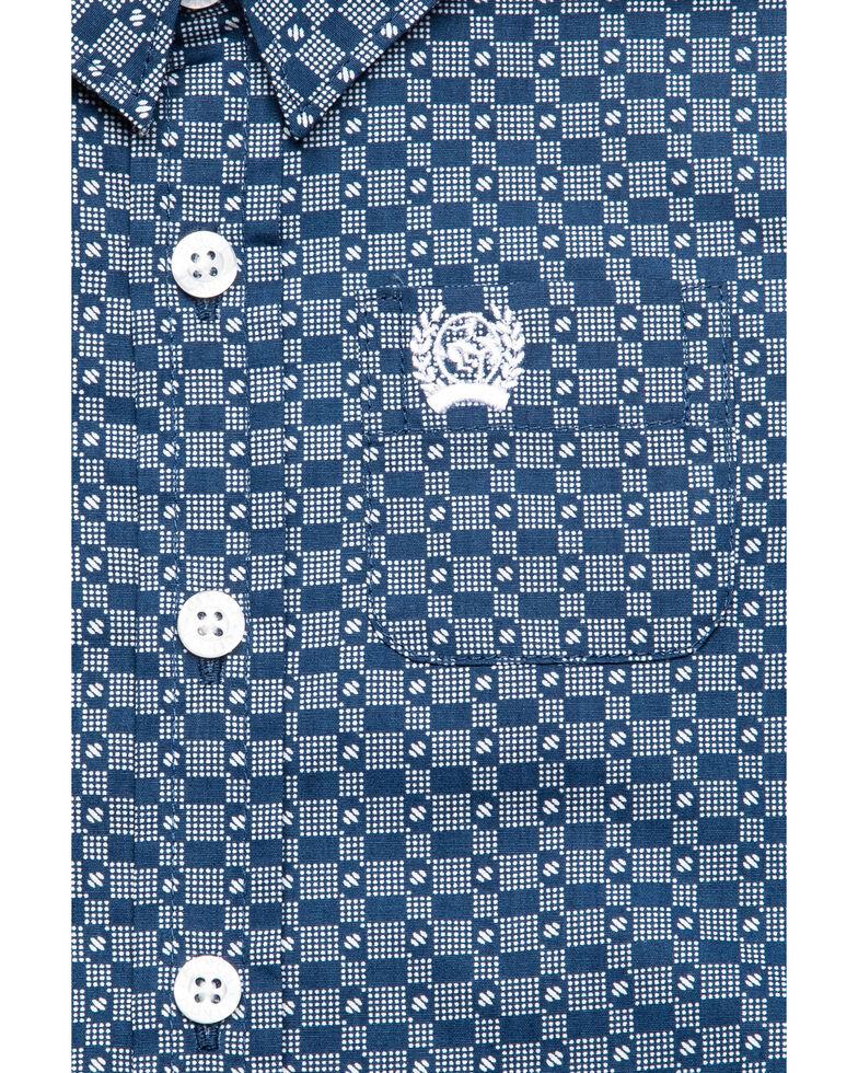 Cinch Infant Boys' Blue Geo Print Long Sleeve Western Shirt , Blue, hi-res