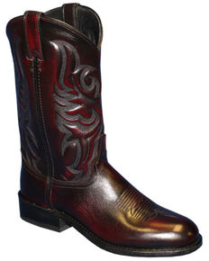 Abilene Men's Black Cherry Western Boots - Round Toe, Black Cherry, hi-res