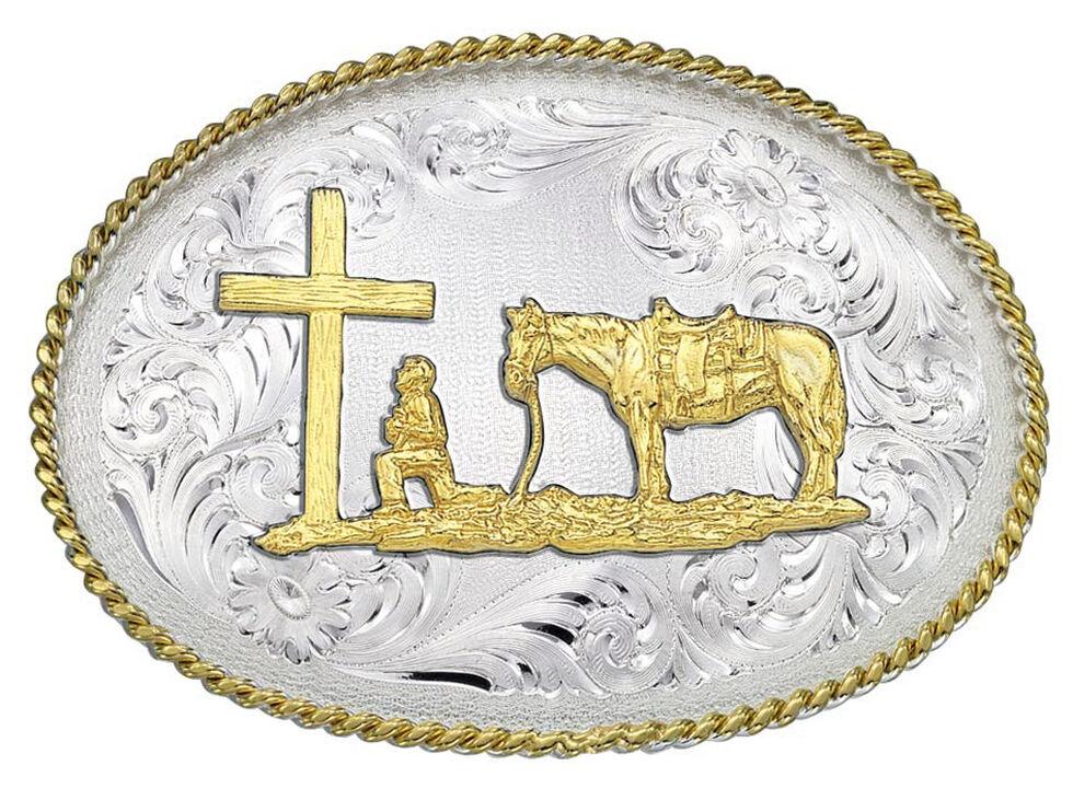 Montana Silversmiths 1340 Series Christian Cowboy Western Belt Buckle, Multi, hi-res