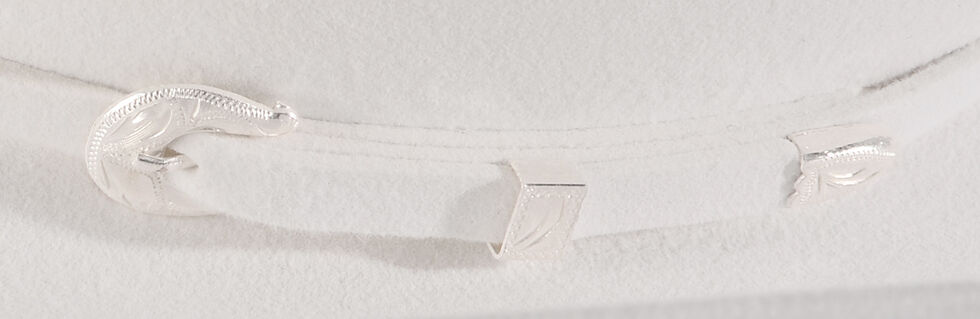 Serratelli Men's White 10X Fur Felt Boss Cowboy Hat, White, hi-res