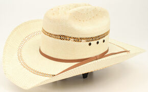 Ariat Kids' Bangora Double S Hat with Eyelets, Tan, hi-res