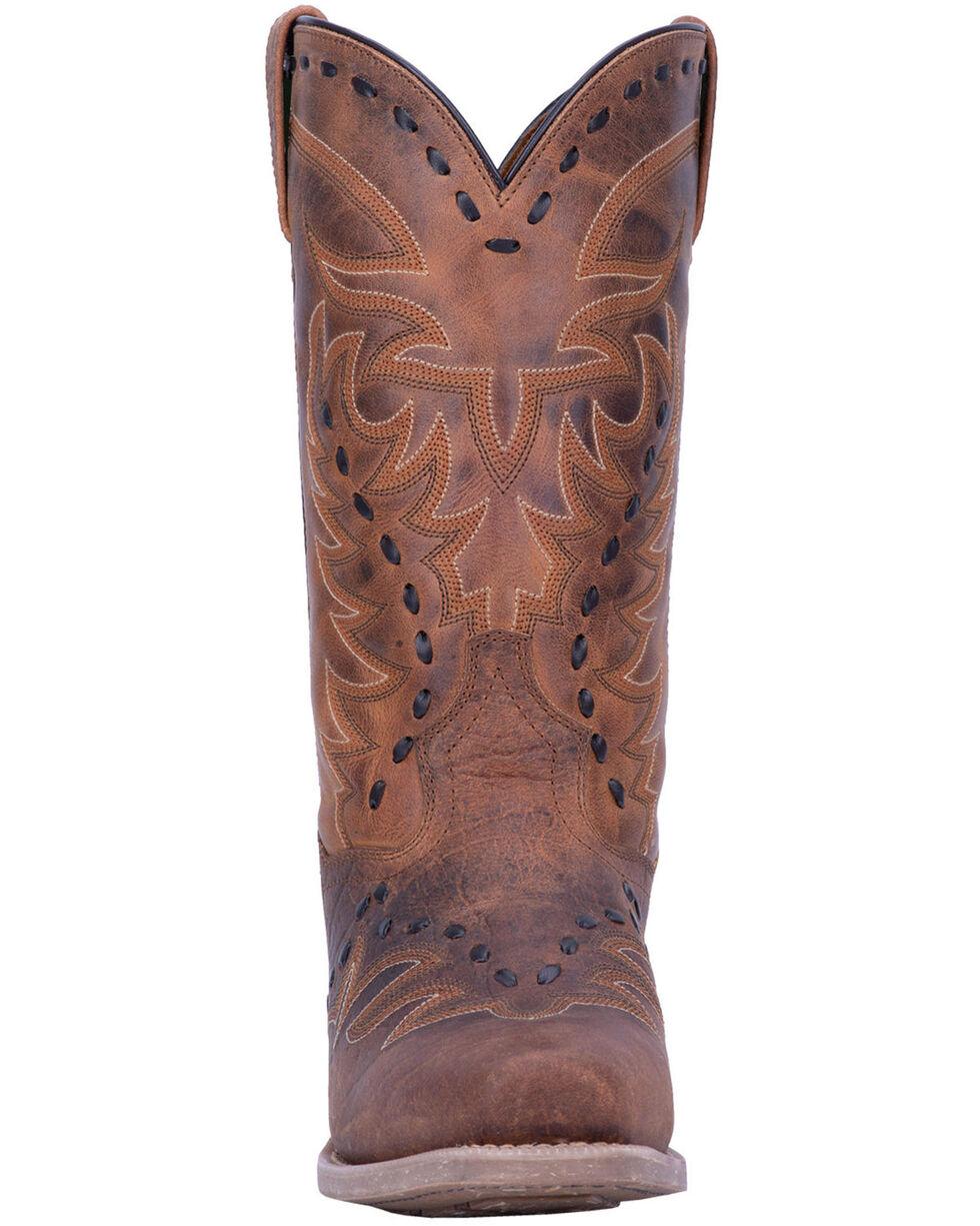 Laredo Men's Clancy Western Boots - Square Toe, Brown, hi-res