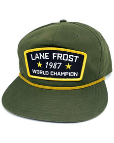 Lane Frost Women's Loden Grunt Biscuit Rope Ball Cap , Olive, hi-res