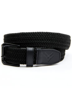 Hawx Men's Braided Leather Detail Work Belt, Black, hi-res