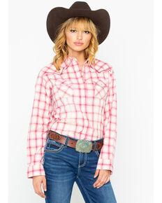 de8c0f6258eb9 Wrangler Women's Rose Ombre Long Sleeve Western Shirt