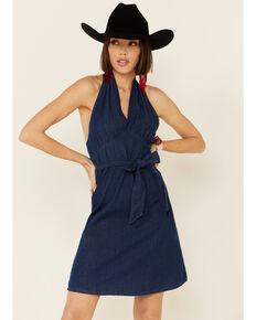 Molly Bracken Women's Denim Halter Dress, Blue, hi-res