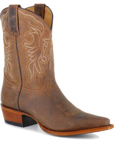Shyanne Women's Embroidered Western Boots - Snip Toe , Brown, hi-res