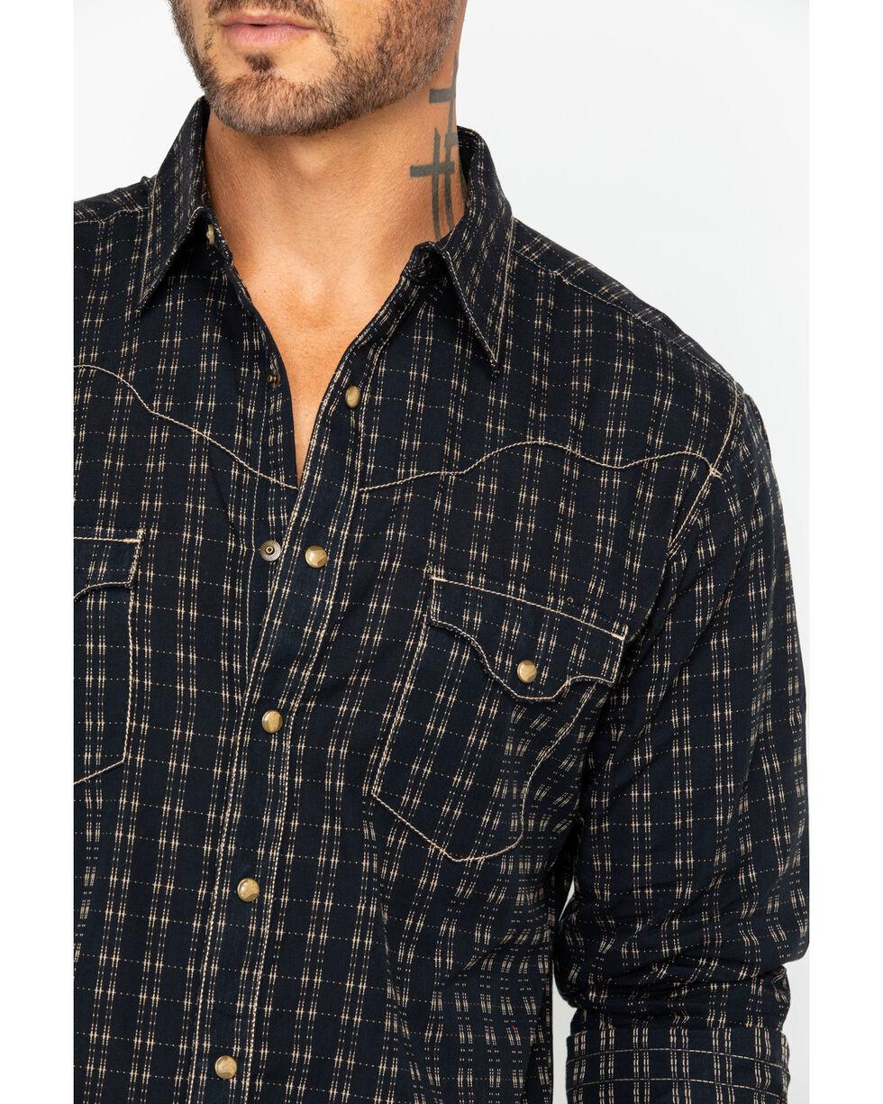 Wrangler Retro Men's Raw Plaid Long Sleeve Shirt , Black/tan, hi-res