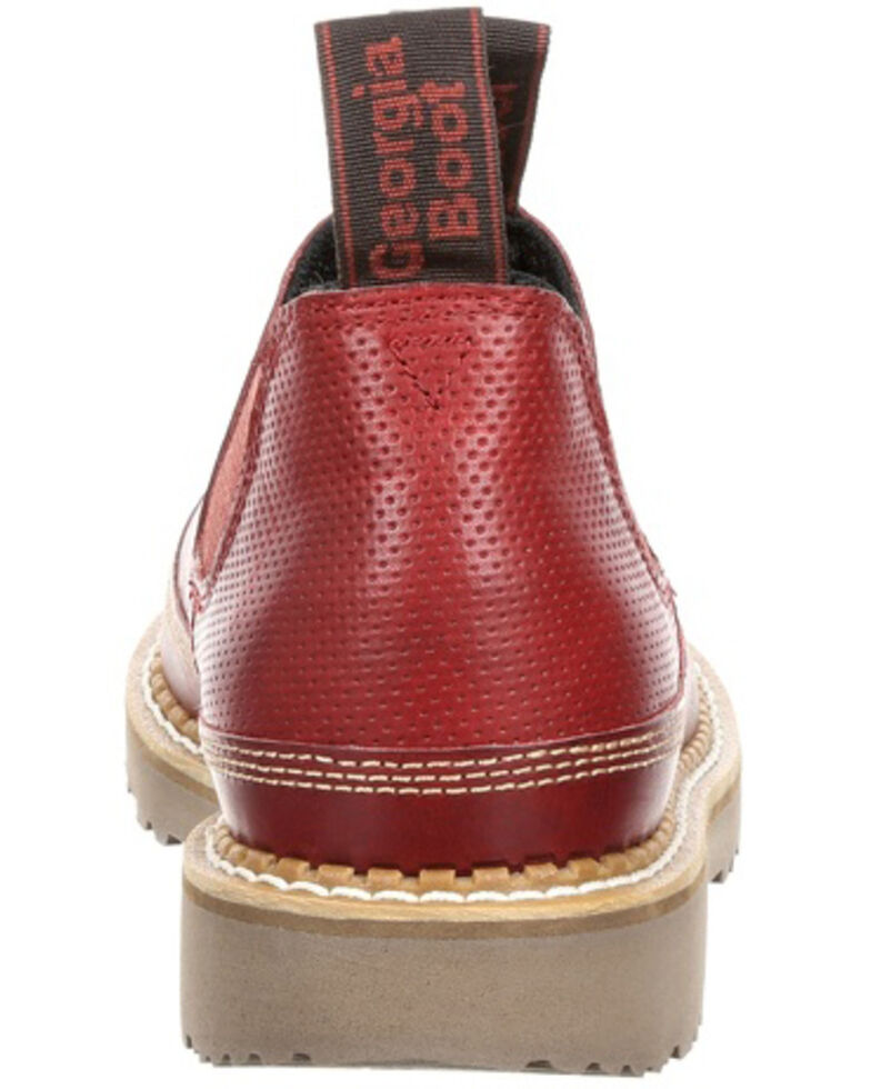 Georgia Boot Women's Giant Red Leather Romeo Shoes - Round Toe, Chestnut, hi-res