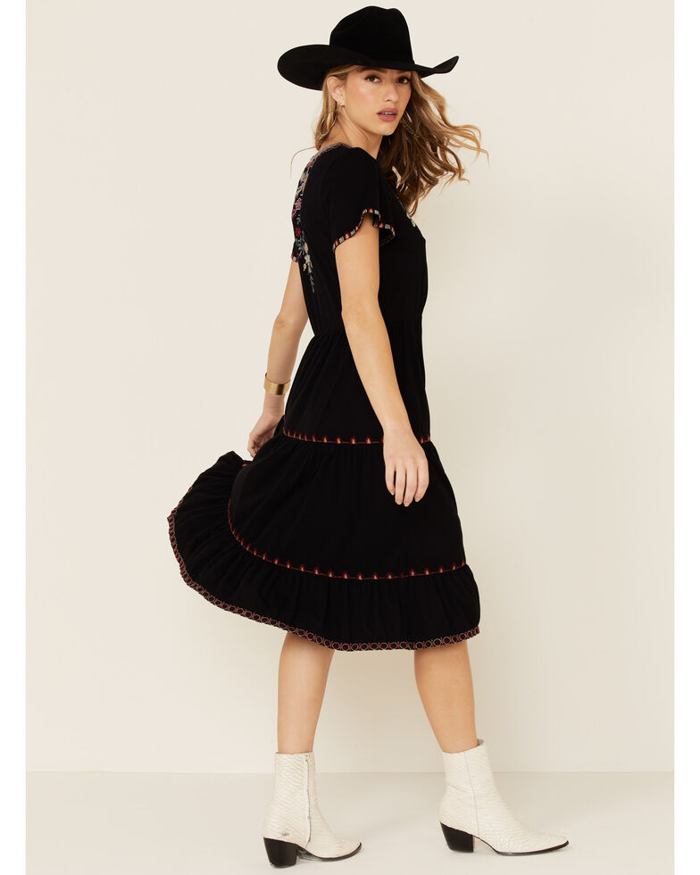 Johnny Was Women's Nya Dress, Black, hi-res