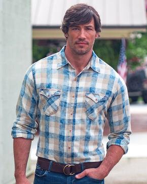 Ryan Michael Men's Indigo Buffalo Plaid Shirt, Indigo, hi-res