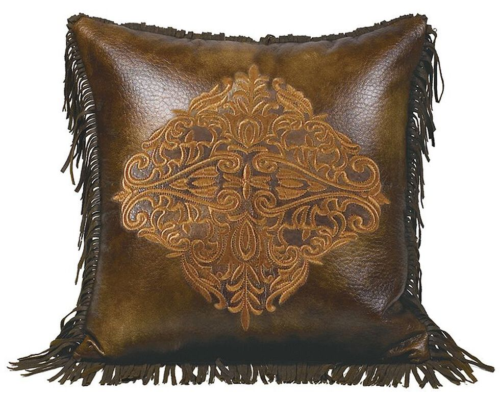 HiEnd Accents Austin Embroidery & Fringe Edges Accent Pillow, Multi, hi-res