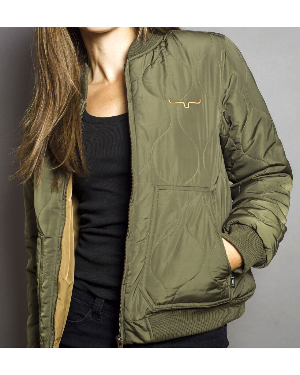Kimes Ranch Women's Marino Bomber Jacket, Green, hi-res