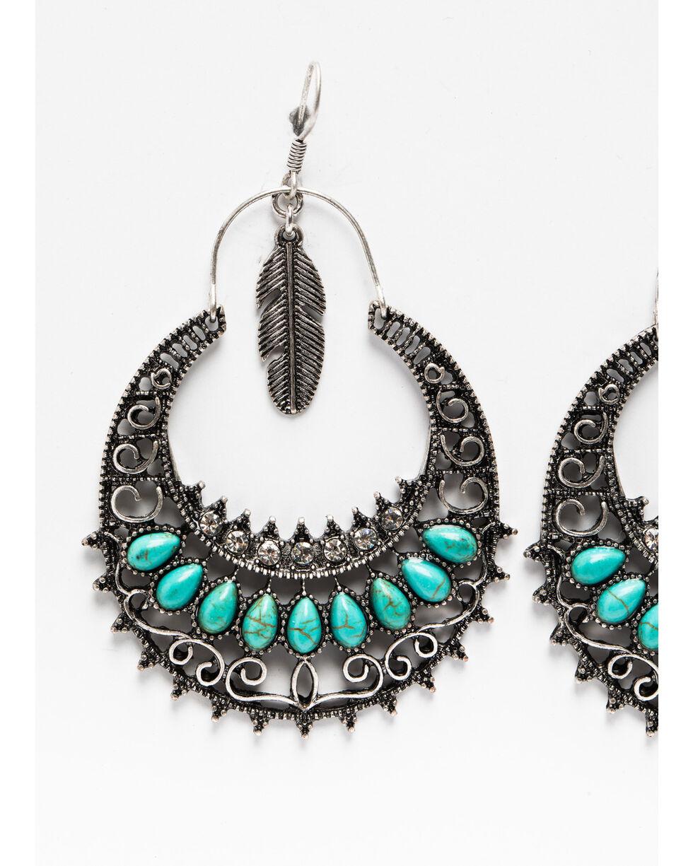 Shyanne Women' Mini Caged Feather Filigree Hoop Earrings, Silver, hi-res