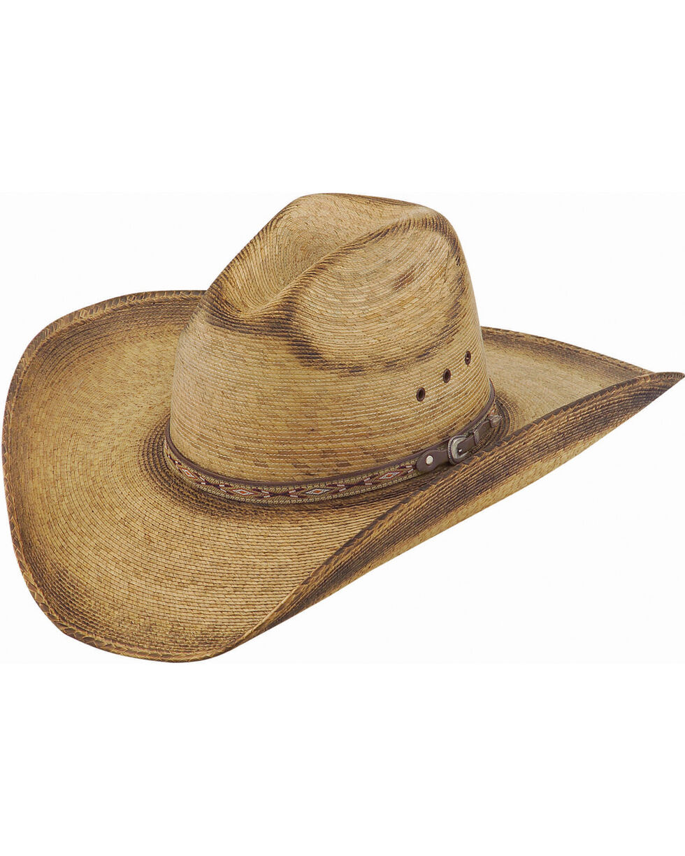 Justin Men's Toast Trail Palm Leaf Cowboy Hat , Beige/khaki, hi-res