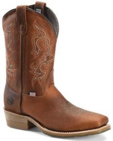 Double H Men's Coppertone Western Work Boots - Steel Toe, Brown, hi-res