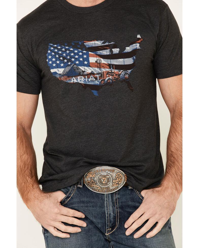 Ariat Men's Charcoal Farm USA Graphic T-Shirt , , hi-res
