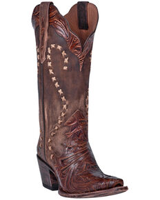 Dan Post Women's Nikola Western Boots - Snip Toe, Brown, hi-res