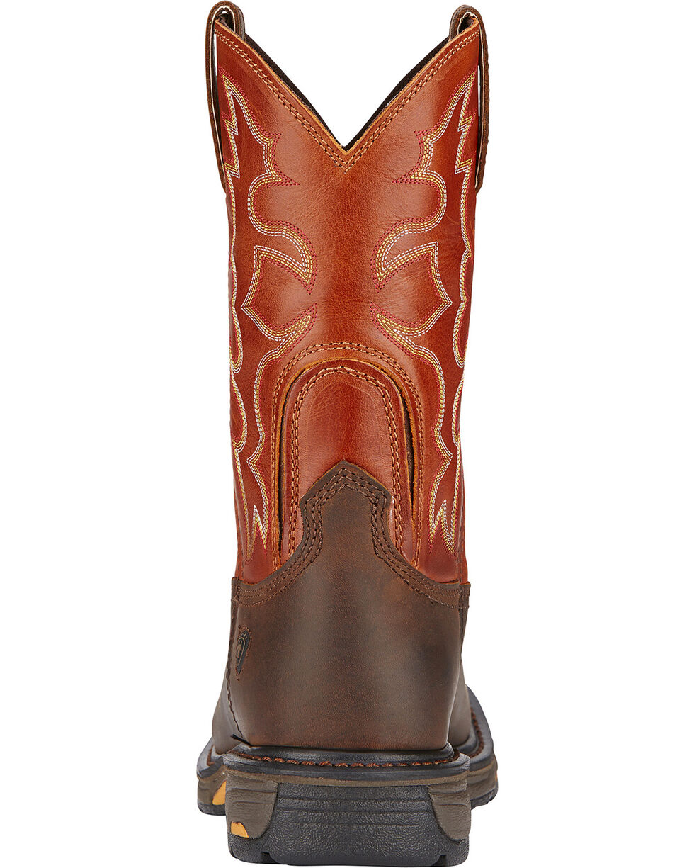 Ariat Workhog Western Work Boots - Soft Square Toe, Earth, hi-res