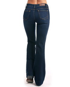 Rock & Roll Cowgirl Women's Extra Stretch High Waist Trousers, Indigo, hi-res