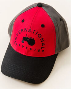 International Harvester Youth Boys' Red Embroidered Tractor Logo Ball Cap, Red, hi-res