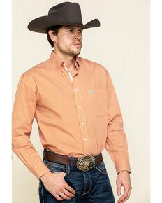 Rough Stock By Panhandle Men's Arden Geo Print Long Sleeve Western Shirt , Orange, hi-res