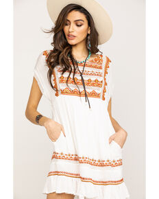 Free People Women's Sunrise Wanderer Mini Dress, Ivory, hi-res