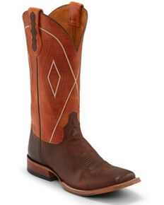 Tony Lama Men's Jasper Tangerine Western Boots - Square Toe, Brown, hi-res