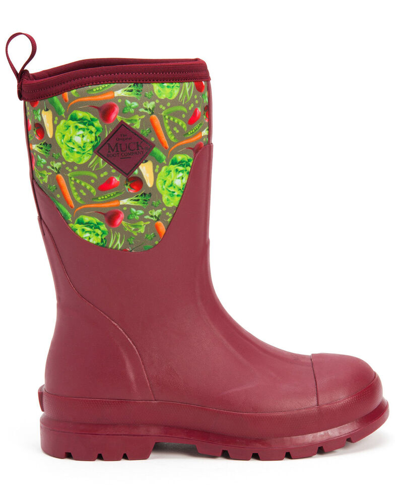 Muck Boots Women's Red Chore Rubber Boots - Round Toe, Red, hi-res