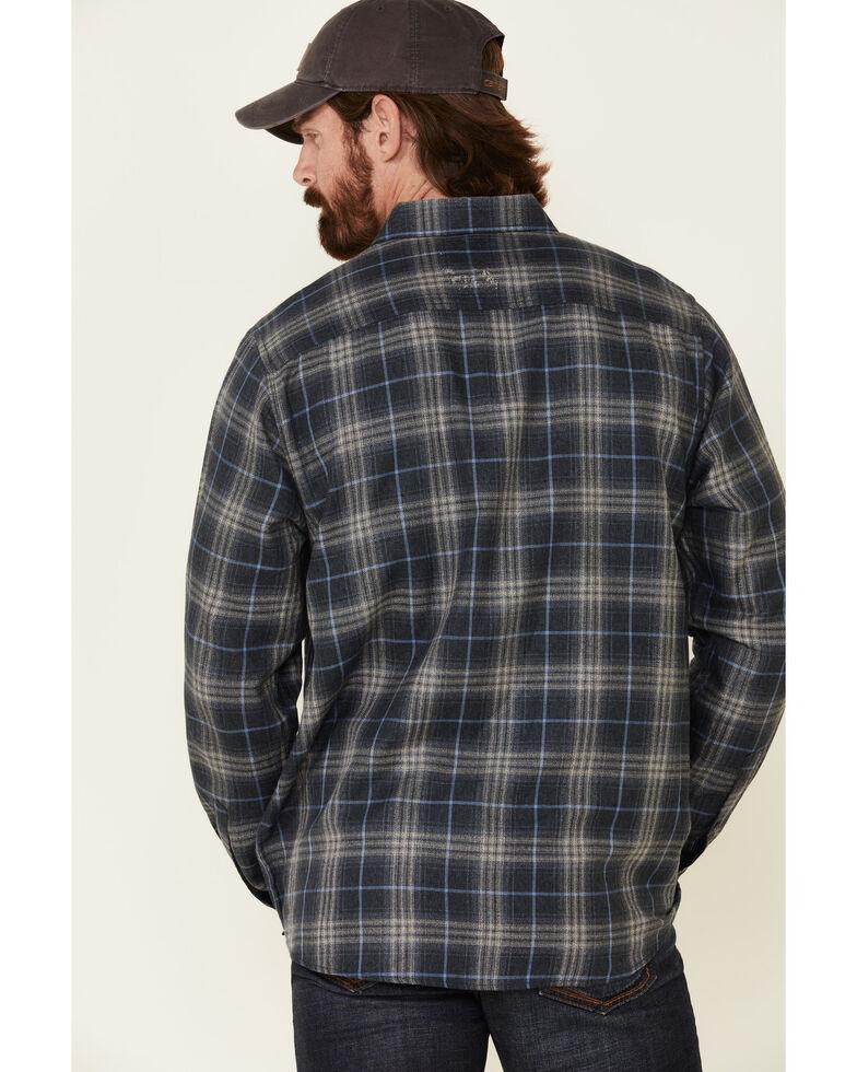 North River Men's Blue Bittersweet Large Plaid Long Sleeve Western Flannel Shirt , Blue, hi-res