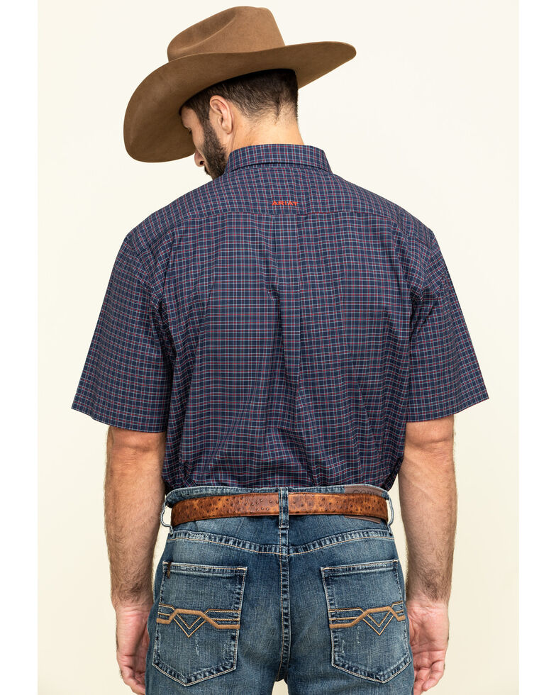 Ariat Men's Norwalk Plaid Short Sleeve Western Shirt - Big , Multi, hi-res