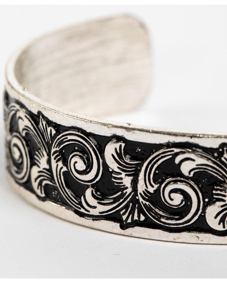 Shyanne Women's Scroll Cuff, Silver, hi-res