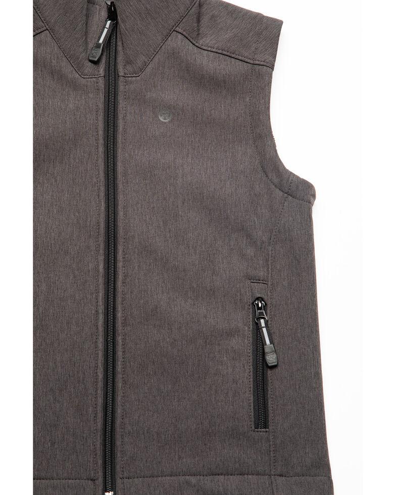 Roper Boys' Grey Soft-Shell Fleece Zip Up Vest , Grey, hi-res