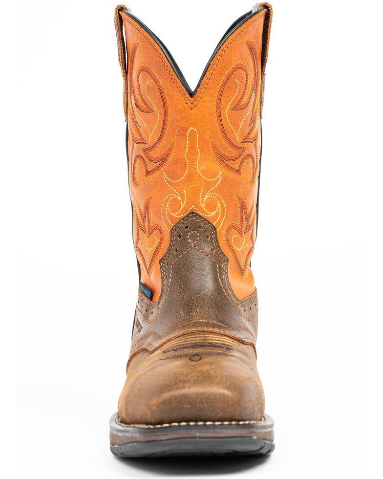 Cody James Men's Nano Lite Waterproof Western Work Boots - Nano Composite Toe, Orange, hi-res