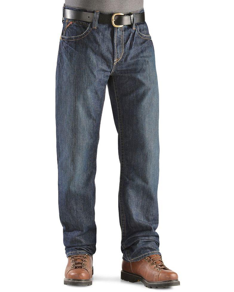 Ariat Men's Flame Resistant Loose Fit Shale Work Jeans, Denim, hi-res