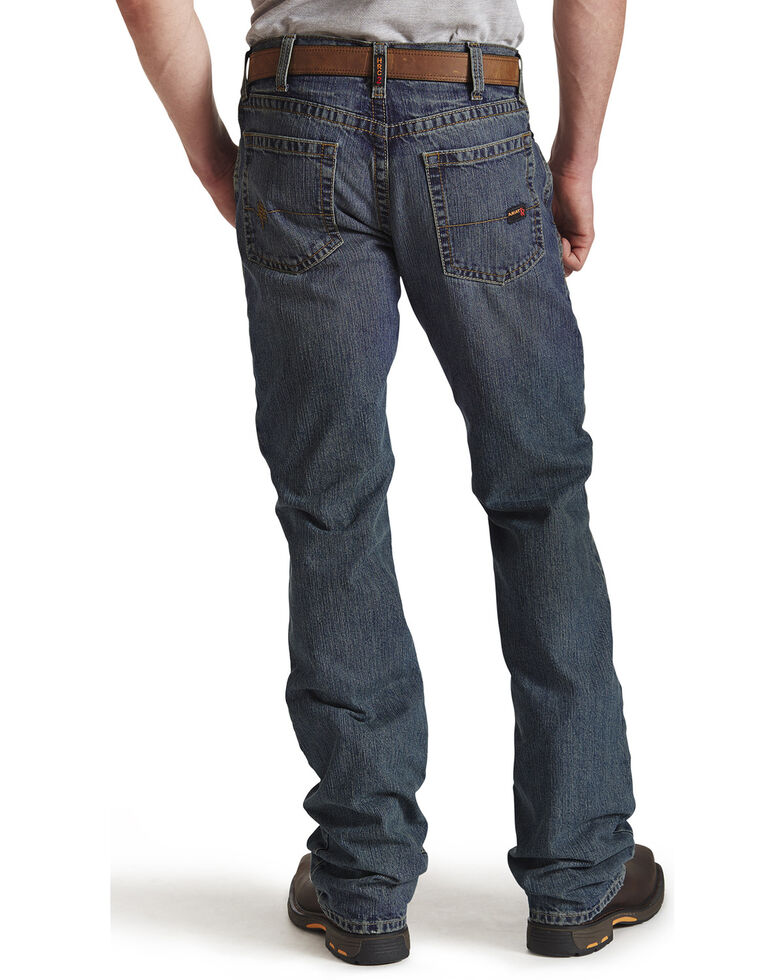 Ariat Men's Flame Resistant M5 Slim Straight Clay Jeans - Big and Tall, Denim, hi-res