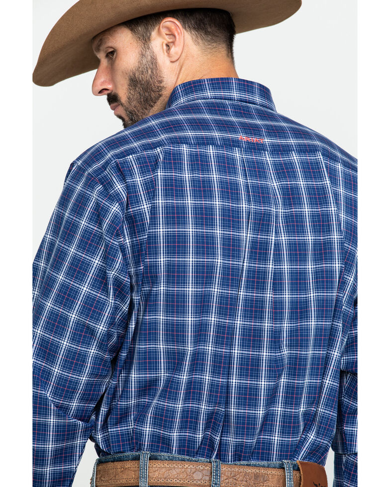 Ariat Men's Gadson Plaid Long Sleeve Western Shirt - Big , Blue, hi-res
