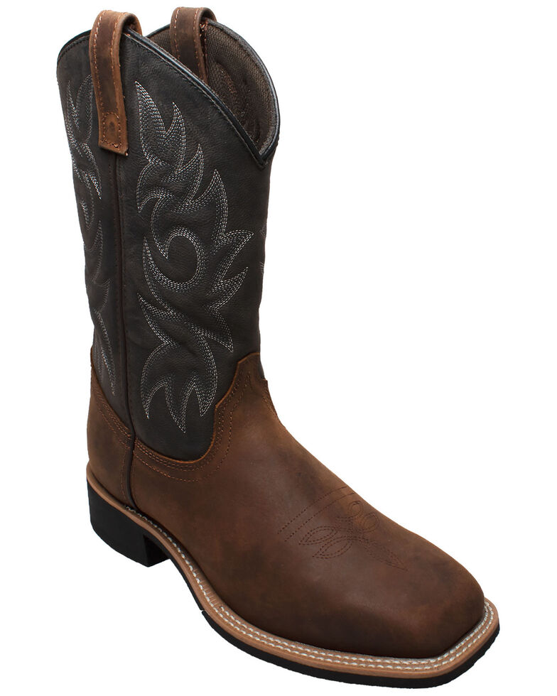 Ad Tec Men's Brown Western Work Boots - Soft Toe, Brown, hi-res