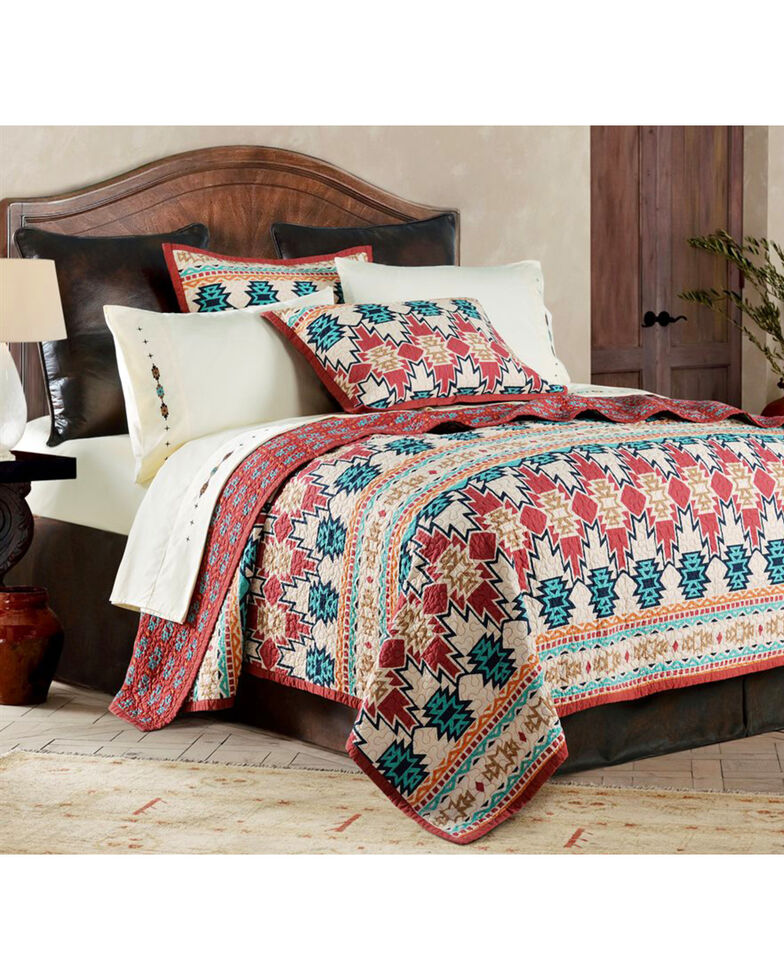 HiEnd Accents 3-Piece Phoenix Full/Queen Quilt Set, Multi, hi-res