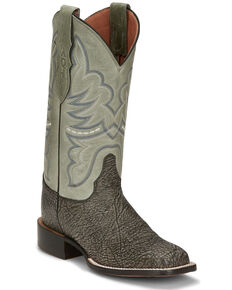 Justin Women's Grey Rumer Goat Western Boots - Square Toe, Grey, hi-res