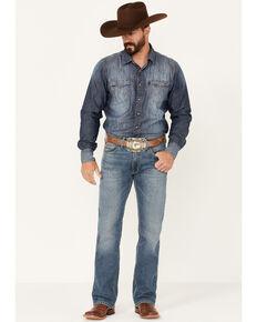 Ariat Men's M5 Tulsa Medium Wash Stretch Straight Leg Jeans , Blue, hi-res