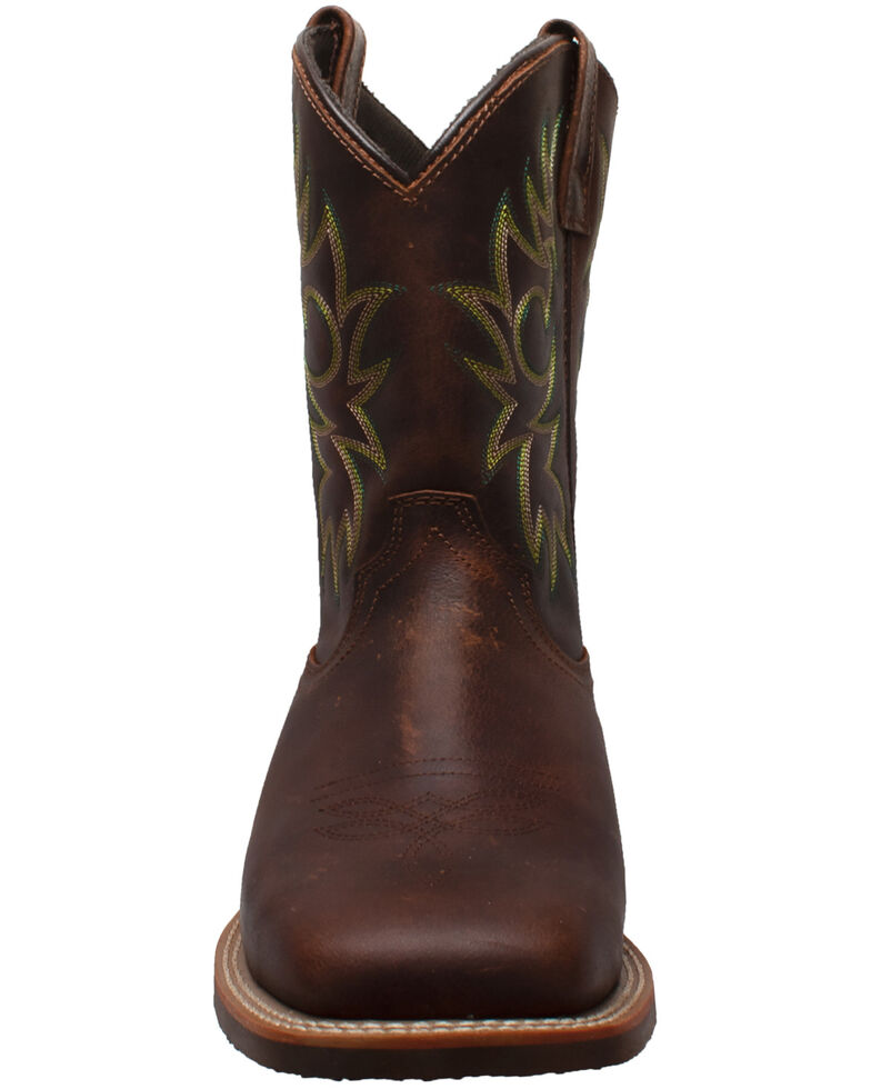 Ad Tec Men's Brown Oiled Western Work Boots - Soft Toe, Brown, hi-res
