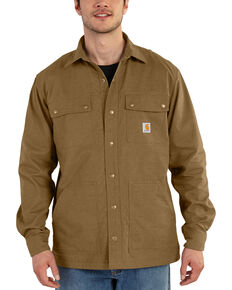 Carhartt Men's Full Swing Overland Shirt Work Jacket, Bark, hi-res